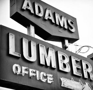 adams lumber sign on idylwyld freeway sasktoon
